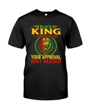 Black King Lion Classic T-Shirt front