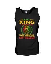 Black King Lion Unisex Tank thumbnail
