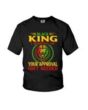 Black King Lion Youth T-Shirt thumbnail