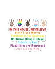 We believe yard sign Sticker - Single (Horizontal) thumbnail