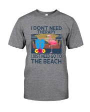 Wine Flip Flops Beach Therapy Classic T-Shirt tile