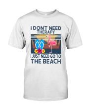 Wine Flip Flops Beach Therapy Classic T-Shirt front