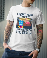 Wine Flip Flops Beach Therapy Classic T-Shirt lifestyle-mens-crewneck-front-6