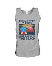 Wine Flip Flops Beach Therapy Unisex Tank thumbnail