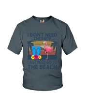 Wine Flip Flops Beach Therapy Youth T-Shirt thumbnail