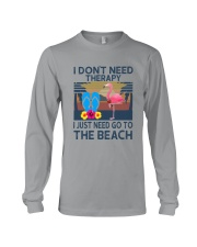 Wine Flip Flops Beach Therapy Long Sleeve Tee thumbnail