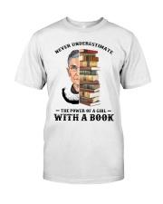 RBG with a book sunflower Classic T-Shirt thumbnail