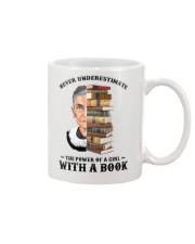 RBG with a book sunflower Mug thumbnail