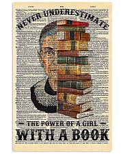 RBG with a book sunflower 11x17 Poster thumbnail