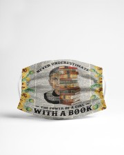 RBG with a book sunflower Cloth face mask aos-face-mask-lifestyle-22
