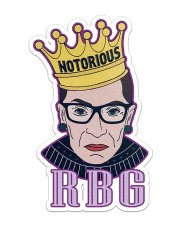 RBG notorious star Sticker tile
