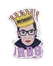 RBG notorious star Sticker - 6 pack (Vertical) front