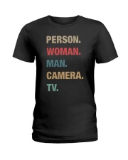 Person woman Ladies T-Shirt thumbnail