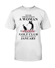 Golf January Woman Love Shirt Classic T-Shirt front