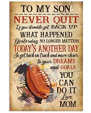 Rugby Never Quilt To My Son Mom 11x17 Poster front