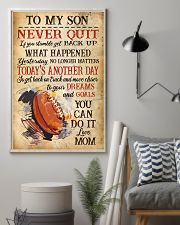 Rugby Never Quilt To My Son Mom 11x17 Poster lifestyle-poster-1
