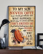 Rugby Never Quilt To My Son Mom 11x17 Poster lifestyle-poster-2
