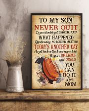 Rugby Never Quilt To My Son Mom 11x17 Poster lifestyle-poster-3