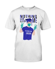 White Boy Nothing Can Stop Me Classic T-Shirt front