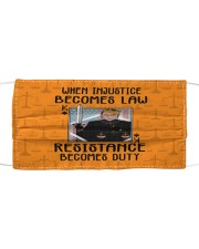 RBG when injustice K card Cloth face mask front