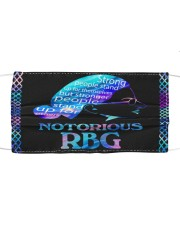 RBG notorious color Cloth face mask front
