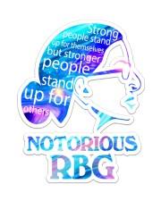 RBG notorious color Sticker - Single (Vertical) thumbnail