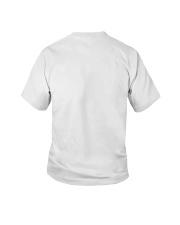 3 Blue Birthday Shark Youth T-Shirt back
