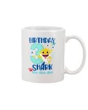 3 Blue Birthday Shark Mug thumbnail