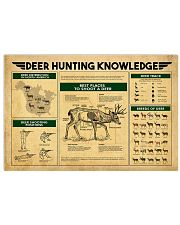 Deer Hunting Knowledge 17x11 Poster front