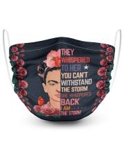 Frida Kahlo whispered 2 Layer Face Mask - Single front