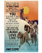 Dog Sledding Today Is A Good Day 11x17 Poster front