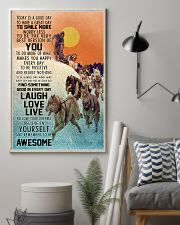 Dog Sledding Today Is A Good Day 11x17 Poster lifestyle-poster-1