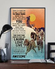 Dog Sledding Today Is A Good Day 11x17 Poster lifestyle-poster-2
