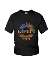 Jeep Sunflower July Fourth Youth T-Shirt thumbnail