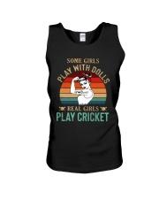 Cricket Real Girls Play Unisex Tank thumbnail
