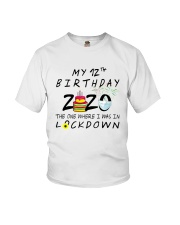 12th Birthday cake Youth T-Shirt front
