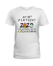 12th Birthday cake Ladies T-Shirt thumbnail