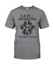 Tennis Easily distracted Classic T-Shirt thumbnail