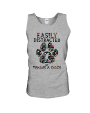 Tennis Easily distracted Unisex Tank thumbnail