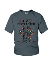 Tennis Easily distracted Youth T-Shirt thumbnail