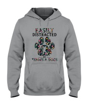 Tennis Easily distracted Hooded Sweatshirt thumbnail