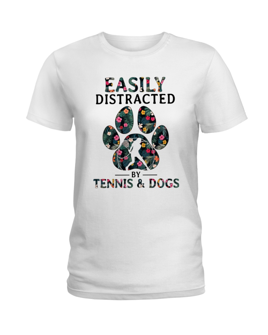 Tennis Easily distracted Ladies T-Shirt