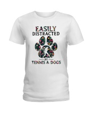Tennis Easily distracted Ladies T-Shirt front