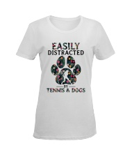 Tennis Easily distracted Ladies T-Shirt women-premium-crewneck-shirt-front