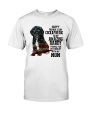 Cockapoo Dog American amazing dad Classic T-Shirt front