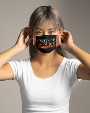 I won't be quiet Cloth face mask aos-face-mask-lifestyle-16