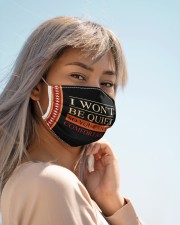 I won't be quiet Cloth face mask aos-face-mask-lifestyle-19