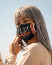 I won't be quiet Cloth face mask aos-face-mask-lifestyle-20
