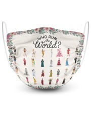 Who run the world 2 Layer Face Mask - Single front