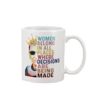 RBG women belong pattern Mug thumbnail